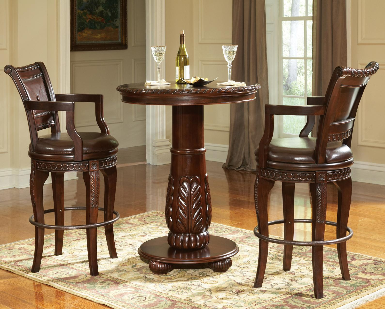 Steve Silver Antoinette 3-Piece Pub Table Set - Item Number: AY300PTT+PTB+2x700CC