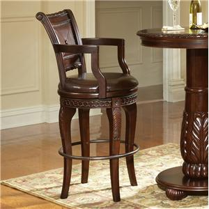 Morris Home Furnishings Antoinette Swivel Bar Chair