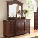 Morris Home Antoinette Dresser and Mirror Combination - Item Number: AY900DR+MR