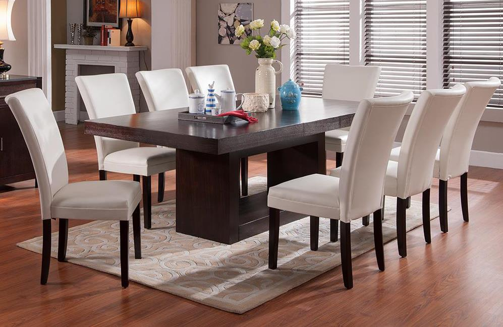 Steve Silver Antonio 9 Piece Dining Set - Item Number: AT500B+T+8xBE550SN