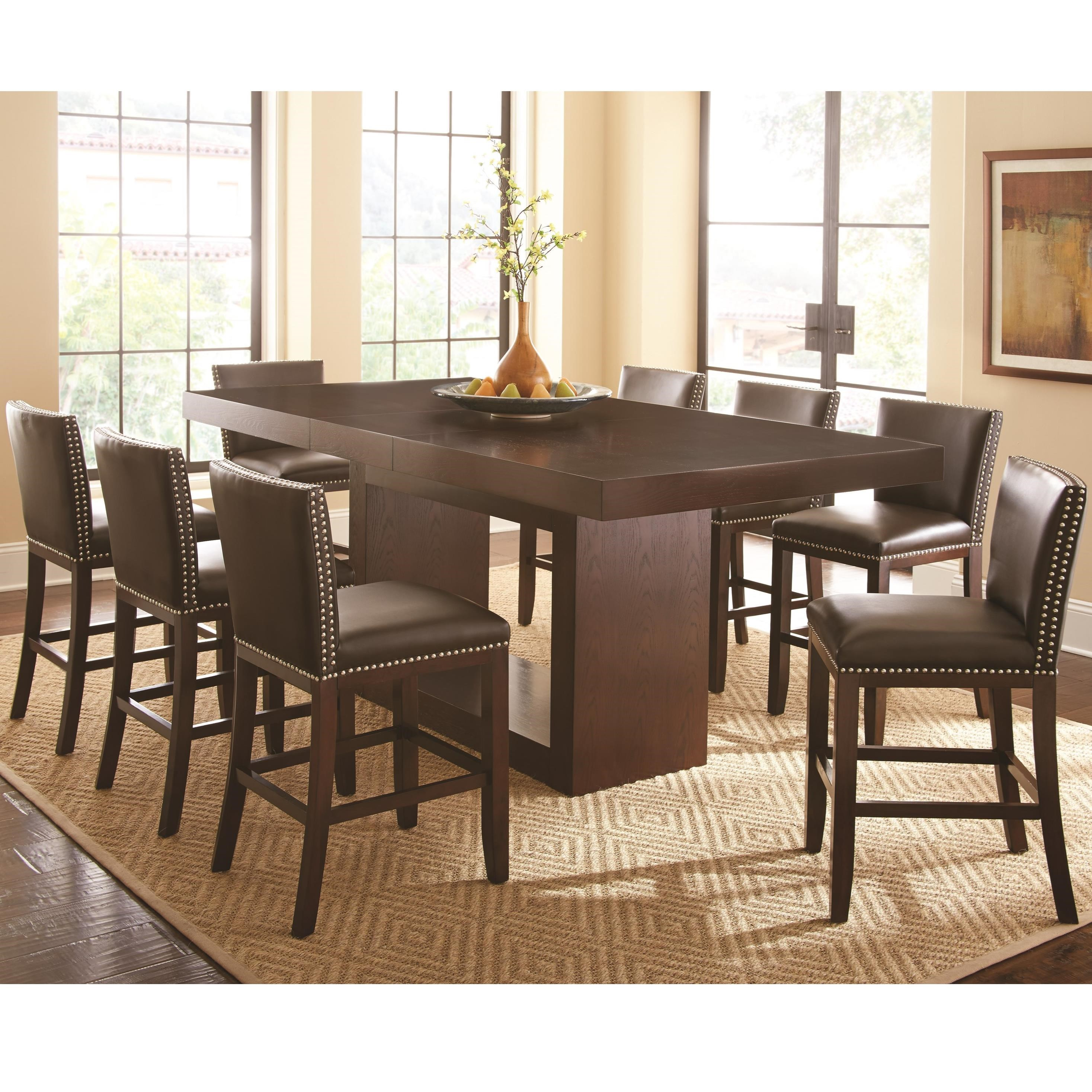 Steve Silver Antonio 9 Piece Counter Height Dining Set