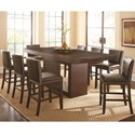 Steve Silver Antonio 9 Piece Dining Set - Item Number: AT700PB+T+8xTF650CCBN