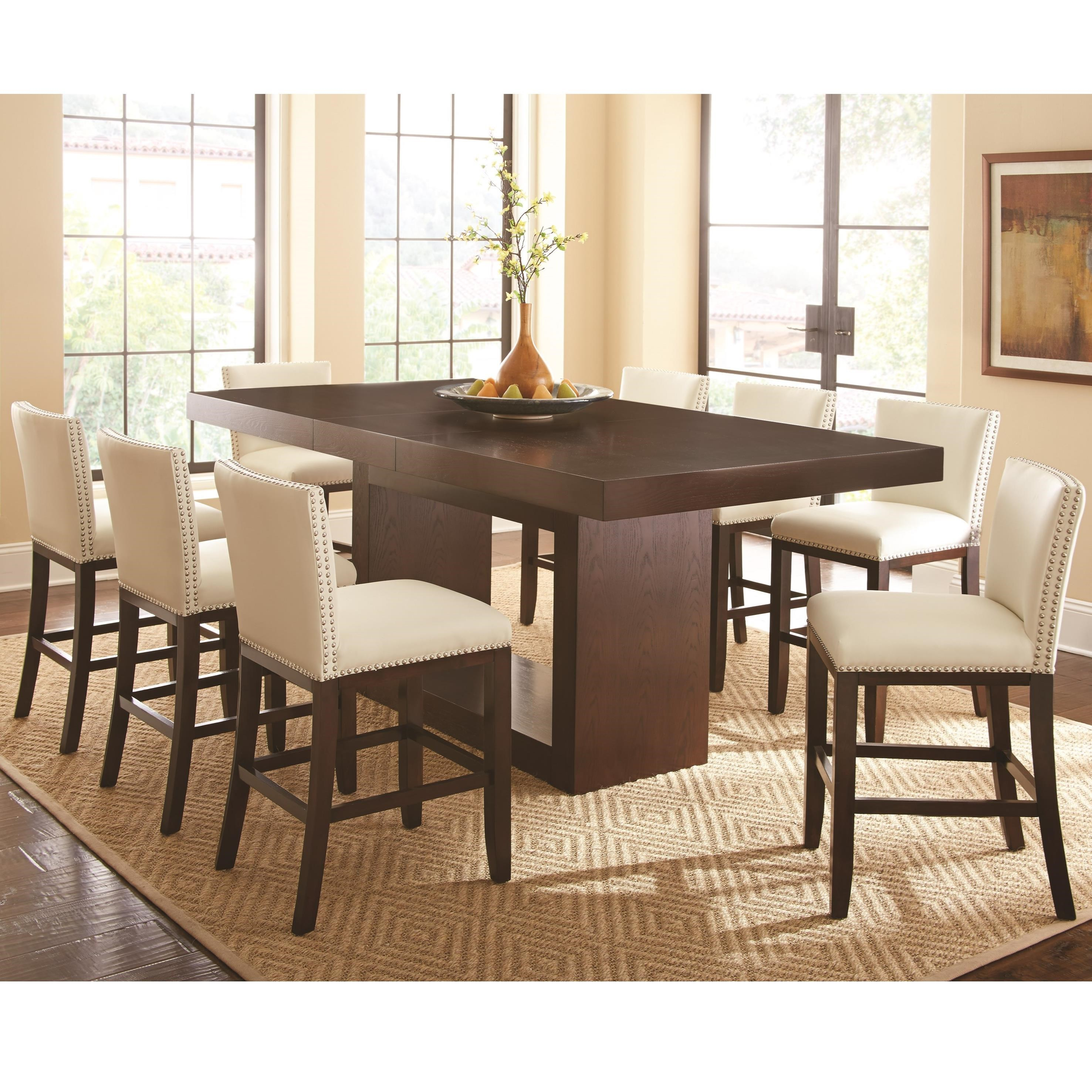 Star Antonio 9 Piece Counter Height Dining Set With Tiffany