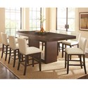 Steve Silver Antonio 9 Piece Dining Set - Item Number: AT700PB+T+8xTF650CCWN