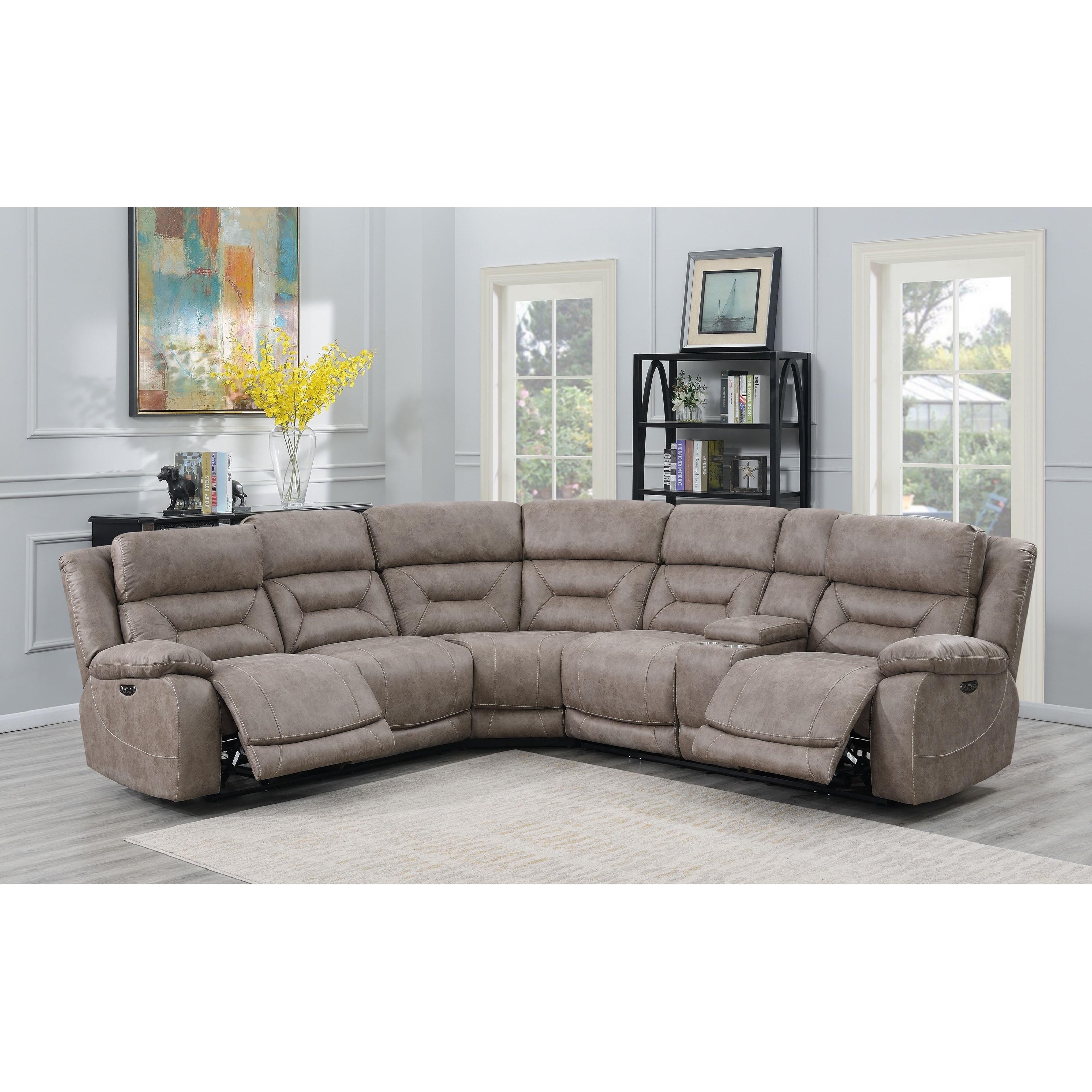 Vendor 3985 Aria 3 Piece Reclining Sectional Sofa With Usb