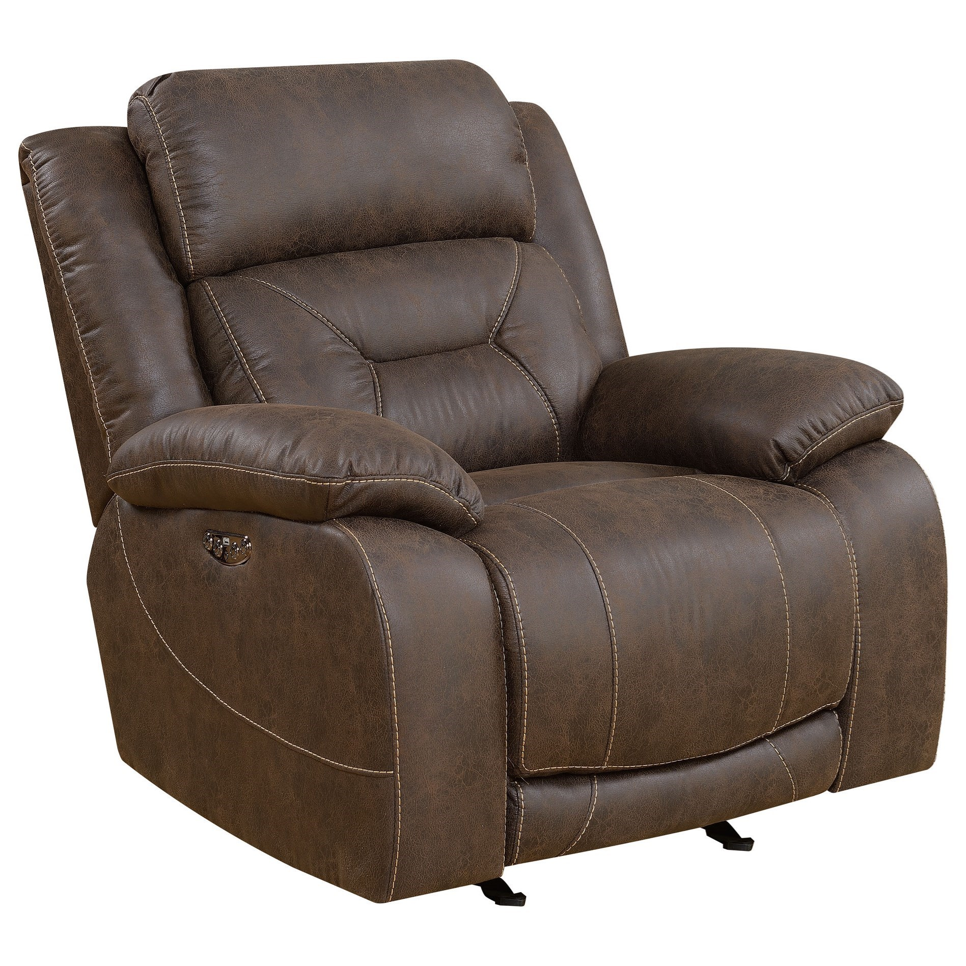 Aria Power Recliner by Steve Silver at Northeast Factory Direct