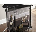 Steve Silver Ariana Demilune Bar Table/Server with Footrest