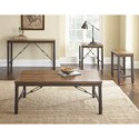 Steve Silver Ashford Industrial Sofa Table with Cable Stretchers