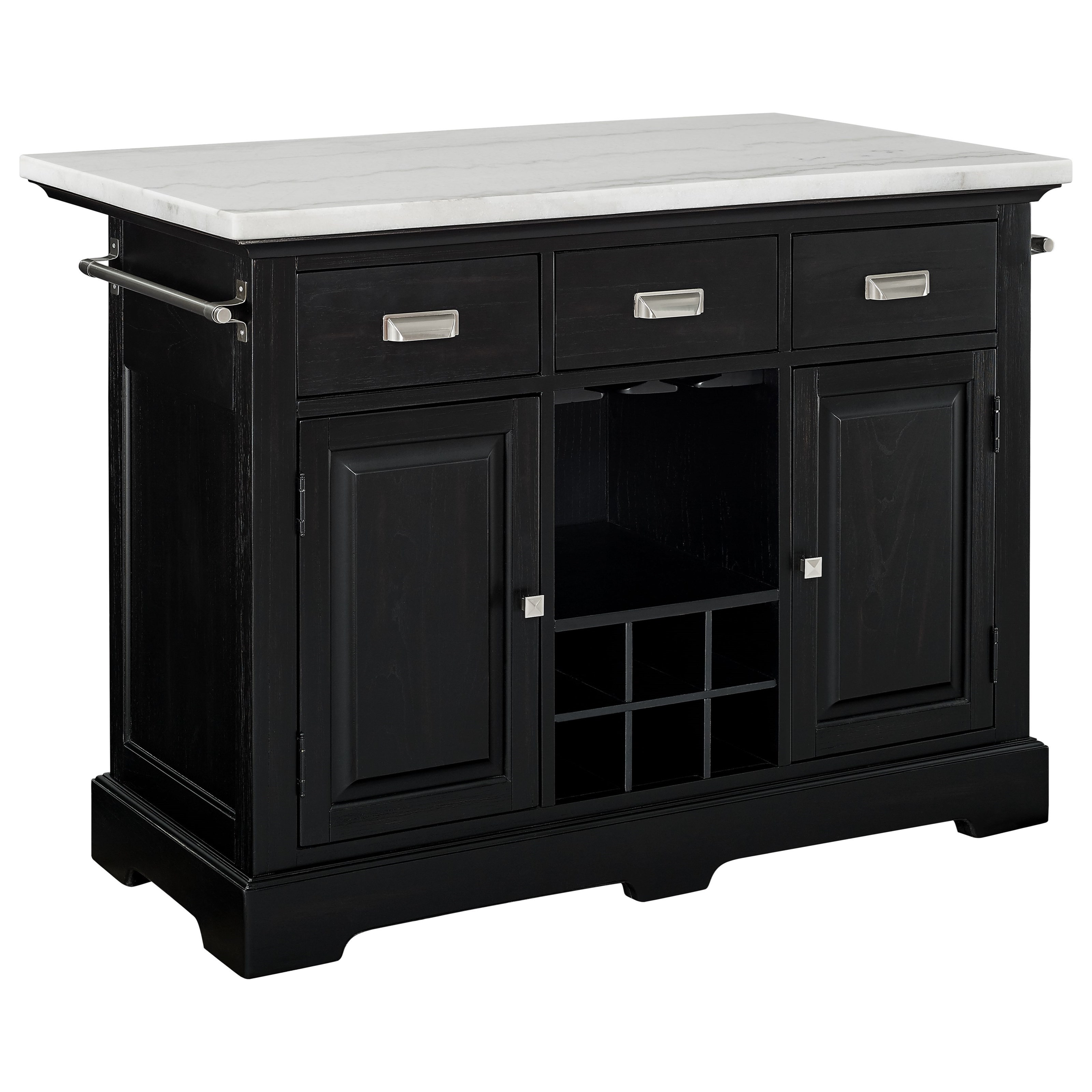 Aspen Kitchen Island by Star at EFO Furniture Outlet