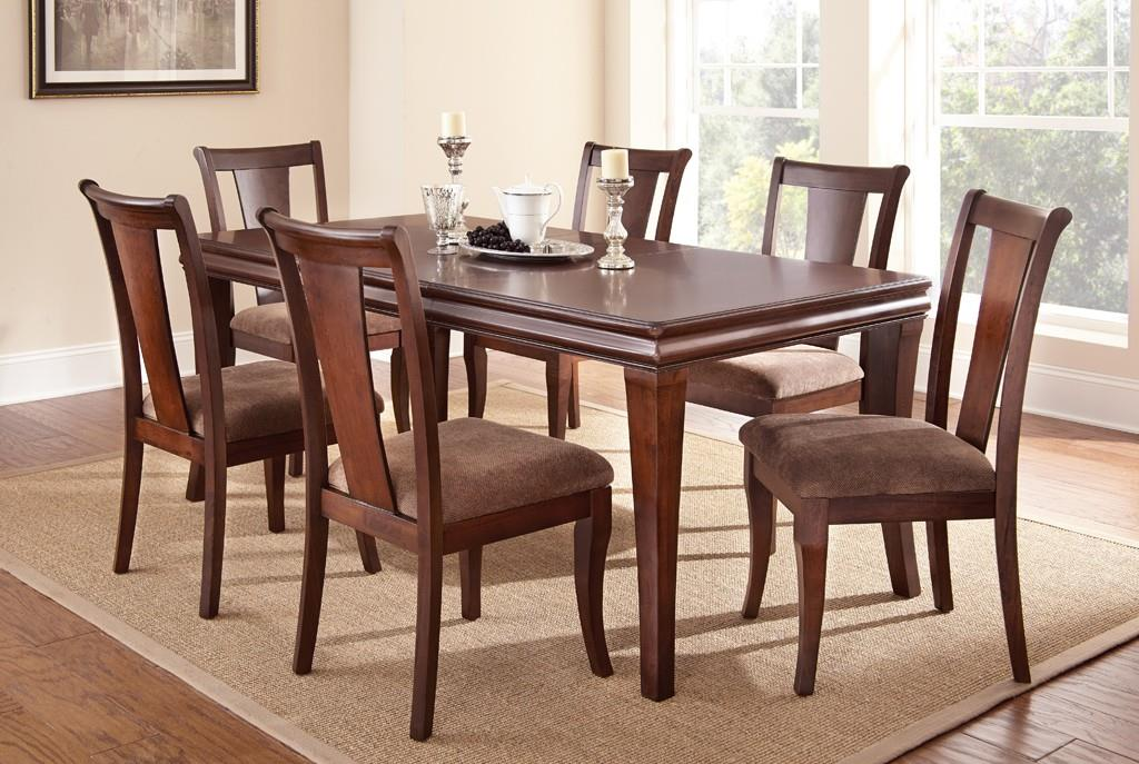 Steve Silver Aubrey Dining Room Table Set - Item Number: AU300T+6xS