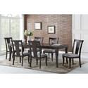 Steve Silver Aubrey Dining Room Table Set - Item Number: AU350TE+6xS