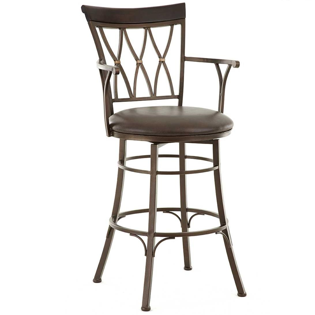 Bali Jumbo Swivel Bar Stool with Armrest by Steve Silver at Northeast Factory Direct