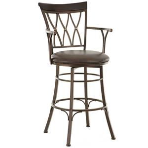 Morris Home Furnishings Bali Jumbo Swivel Bar Stool with Armrest