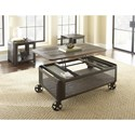 Steve Silver Barrow Lift Top Cocktail Table with Casters
