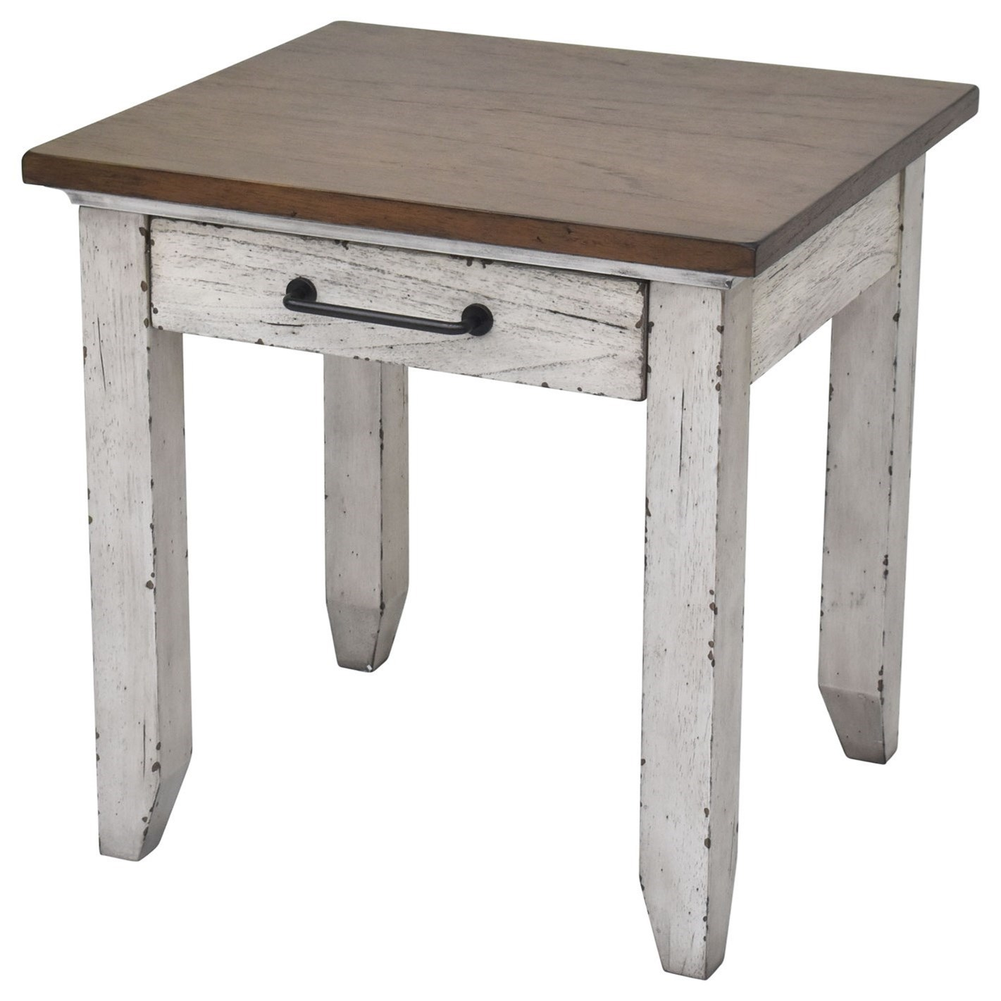 Bear Creek End Table by Star at EFO Furniture Outlet
