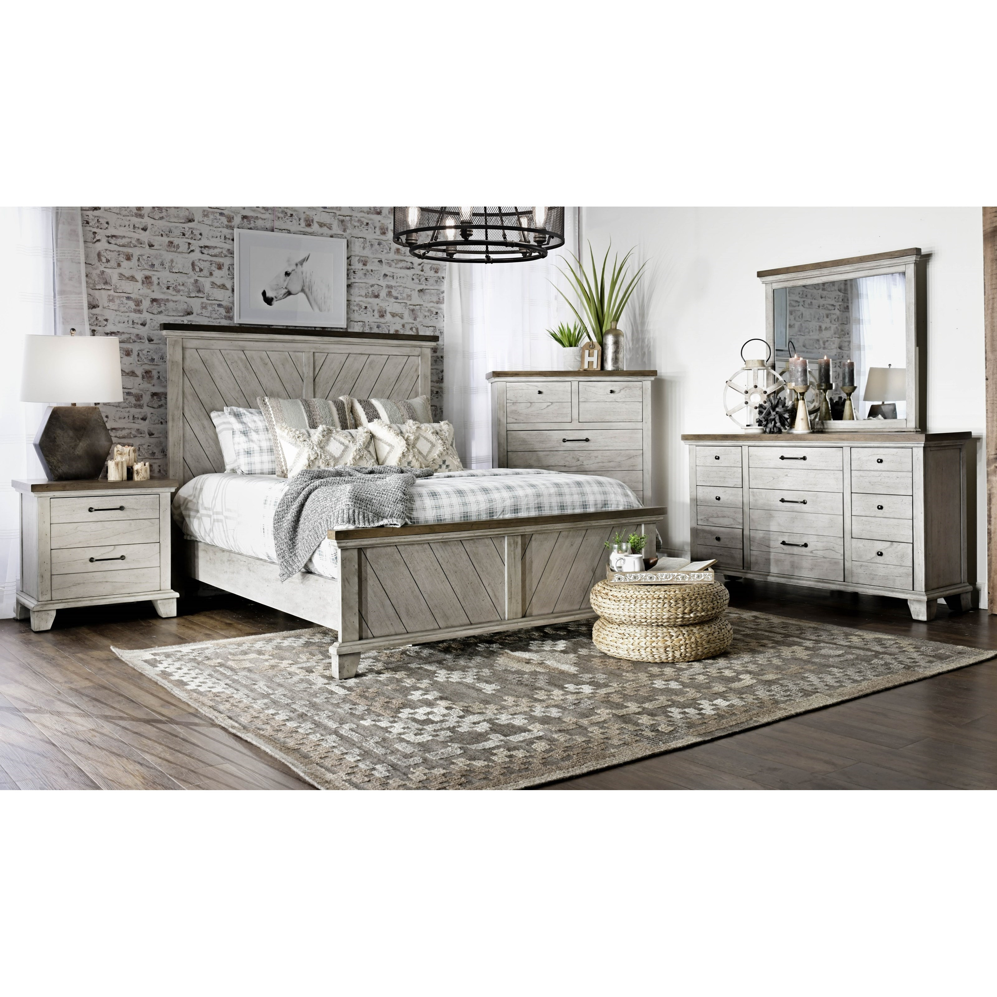 Bear Creek Queen Bedroom Group by Star at EFO Furniture Outlet