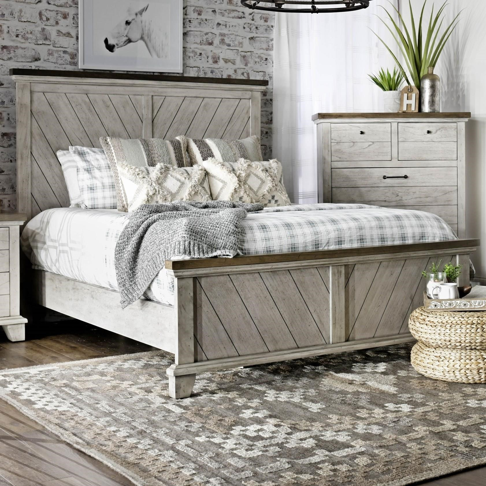 Bear Creek Queen Panel Bed by Star at EFO Furniture Outlet