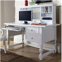 Morris Home Furnishings Bella Desk and Hutch - Item Number: B125DW+HW