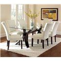 Morris Home Furnishings Berkley 7 Piece Dining Set - Item Number: BE500GTN+BN+6x550SN