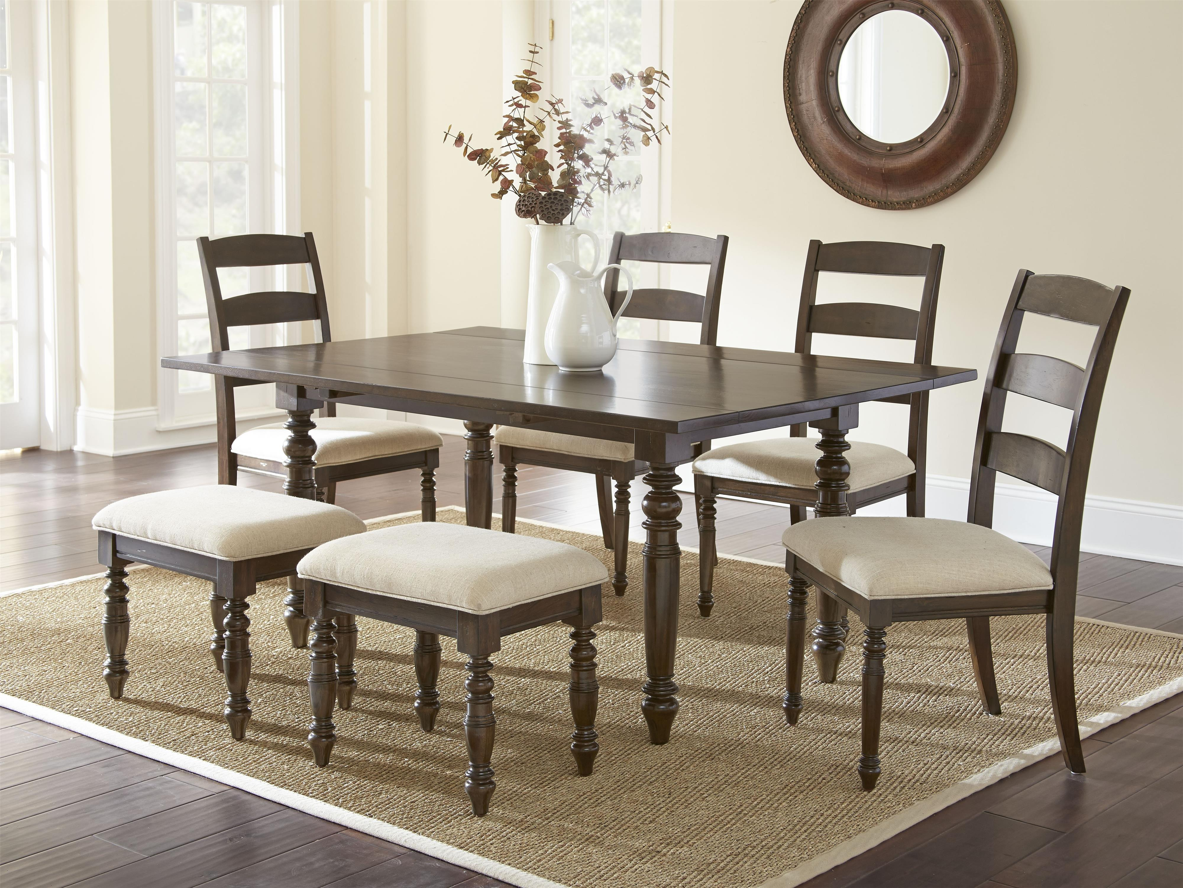 Steve Silver Bexley 7 Piece Dining Set - Item Number: BY550T+4xS+2xST