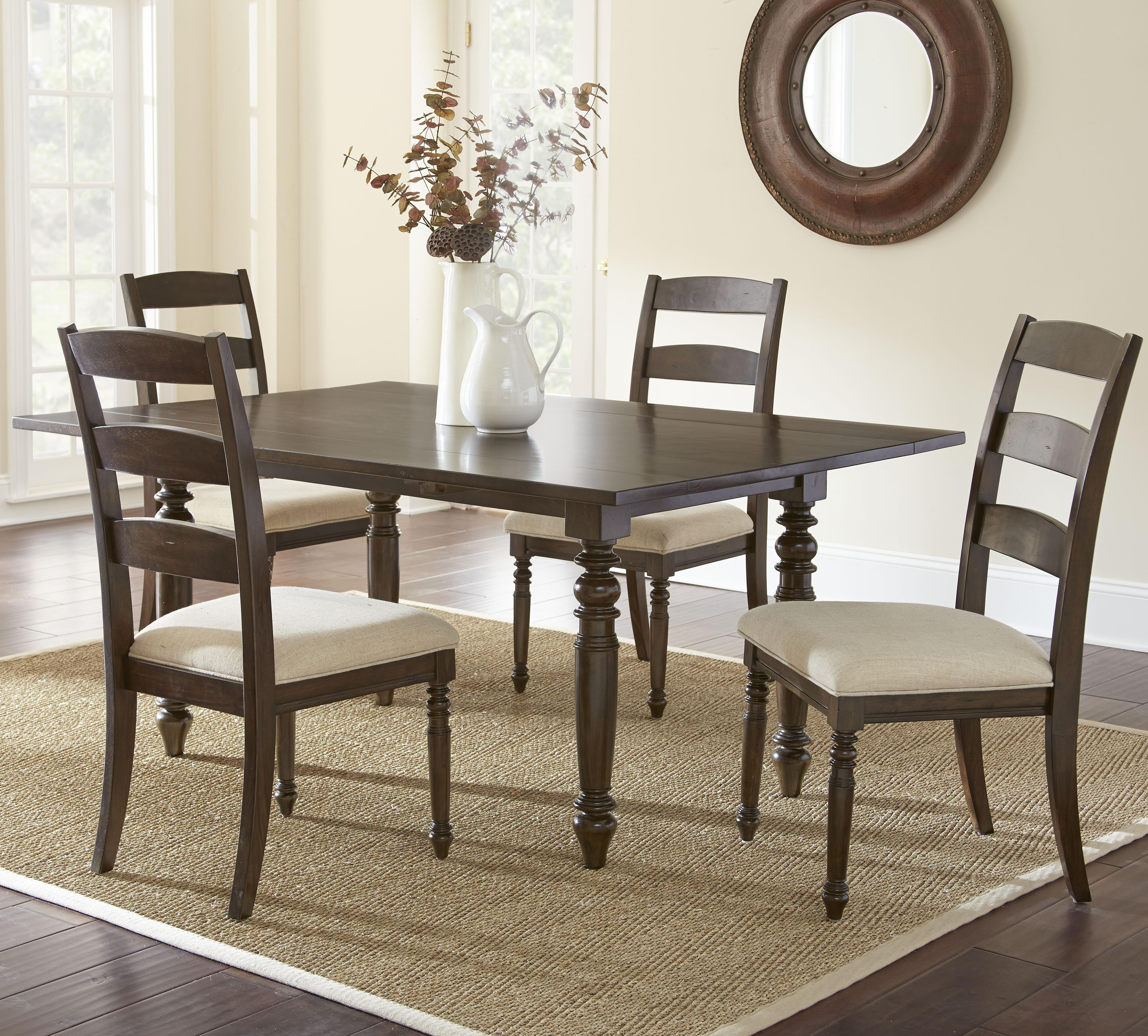 Steve Silver Bexley 5 Piece Dining Set - Item Number: BY550T+4xS