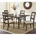 Morris Home Furnishings Bexley 5 Piece Dining Set - Item Number: BY550T+4xS
