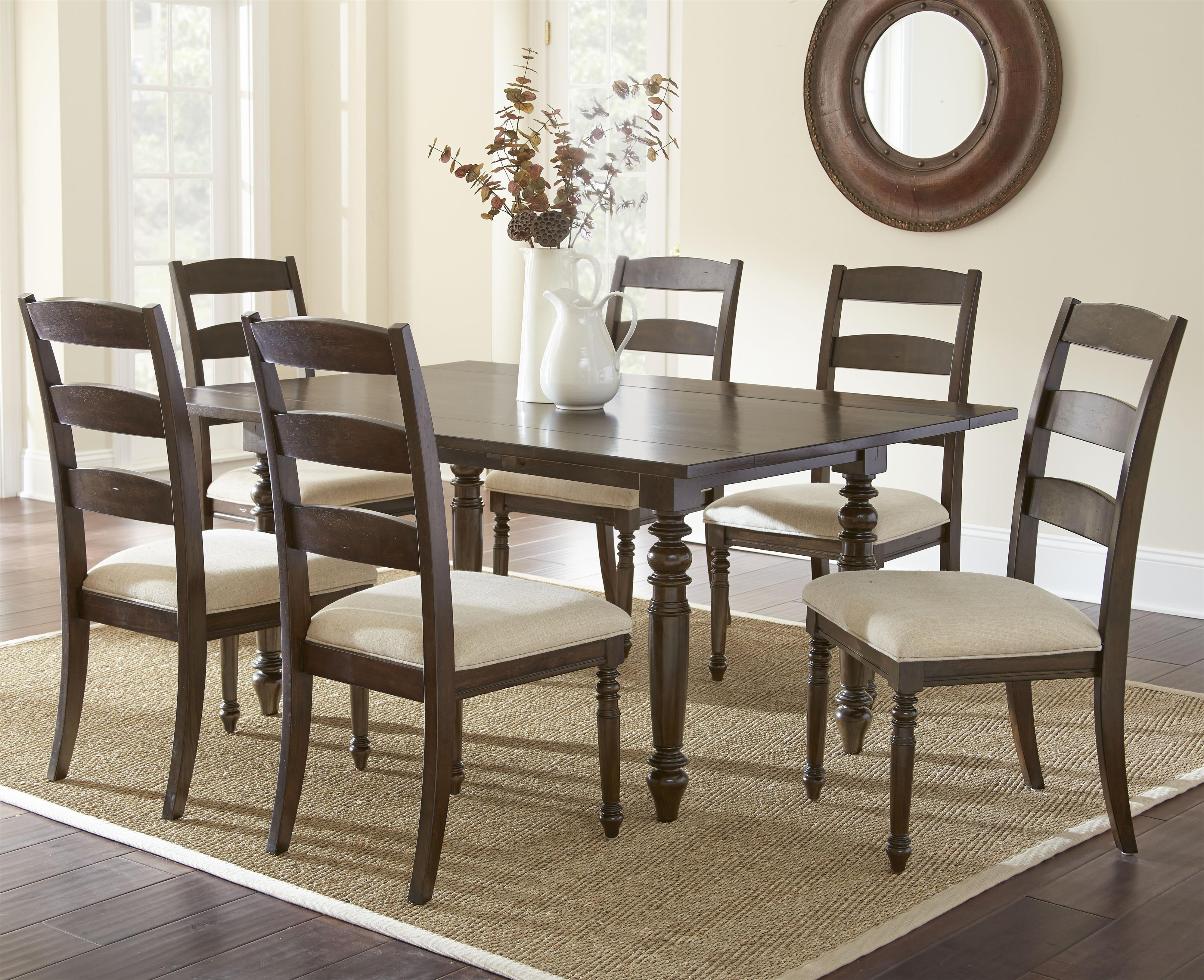 Steve Silver Bexley 7 Piece Dining Set - Item Number: BY550T+6xS