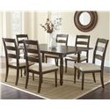 Morris Home Furnishings Bexley 7 Piece Dining Set - Item Number: BY550T+6xS
