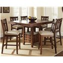 Steve Silver Bolton 7 Piece Counter Height Dining Set - Item Number: BO4848PB+T+6xBO400CC