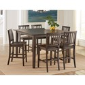 Steve Silver Branson 7 Piece Counter Height Dining Set - Item Number: BR5454PTDK+6x500CCDK