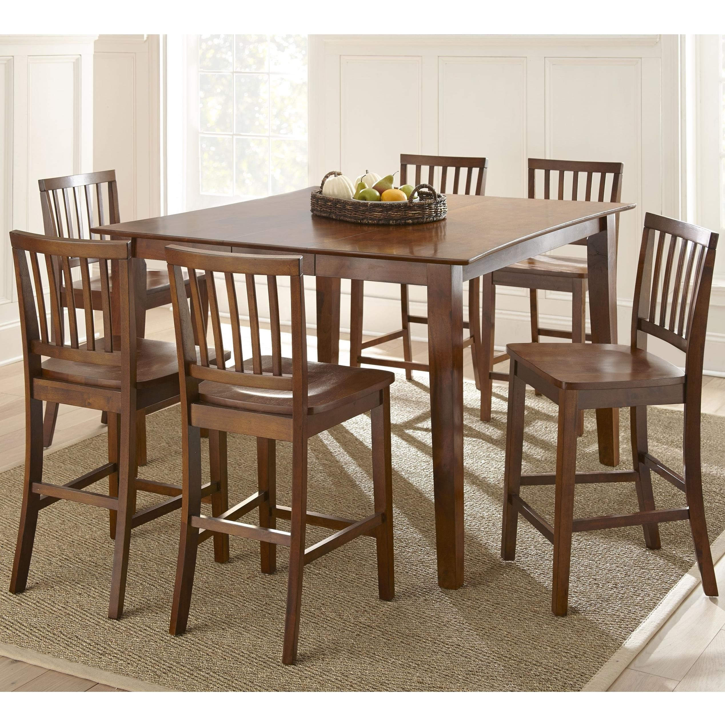 Steve silver branson 7 piece counter height dining set for Counter height dining set