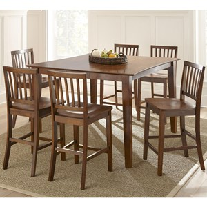 Steve Silver Branson 7 Piece Counter Height Dining Set & Table and Chair Sets | Baton Rouge and Lafayette Louisiana Table ...