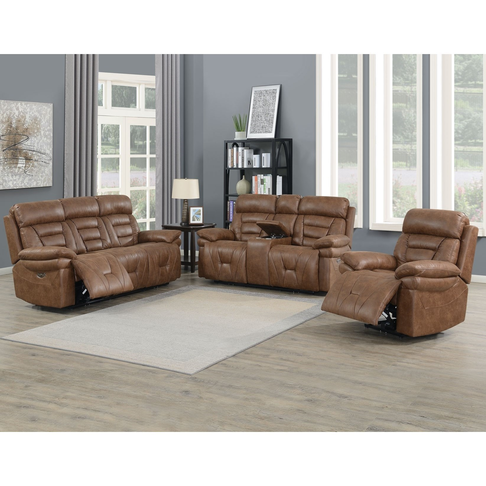 Lay Flat Power Reclining Living Room Group