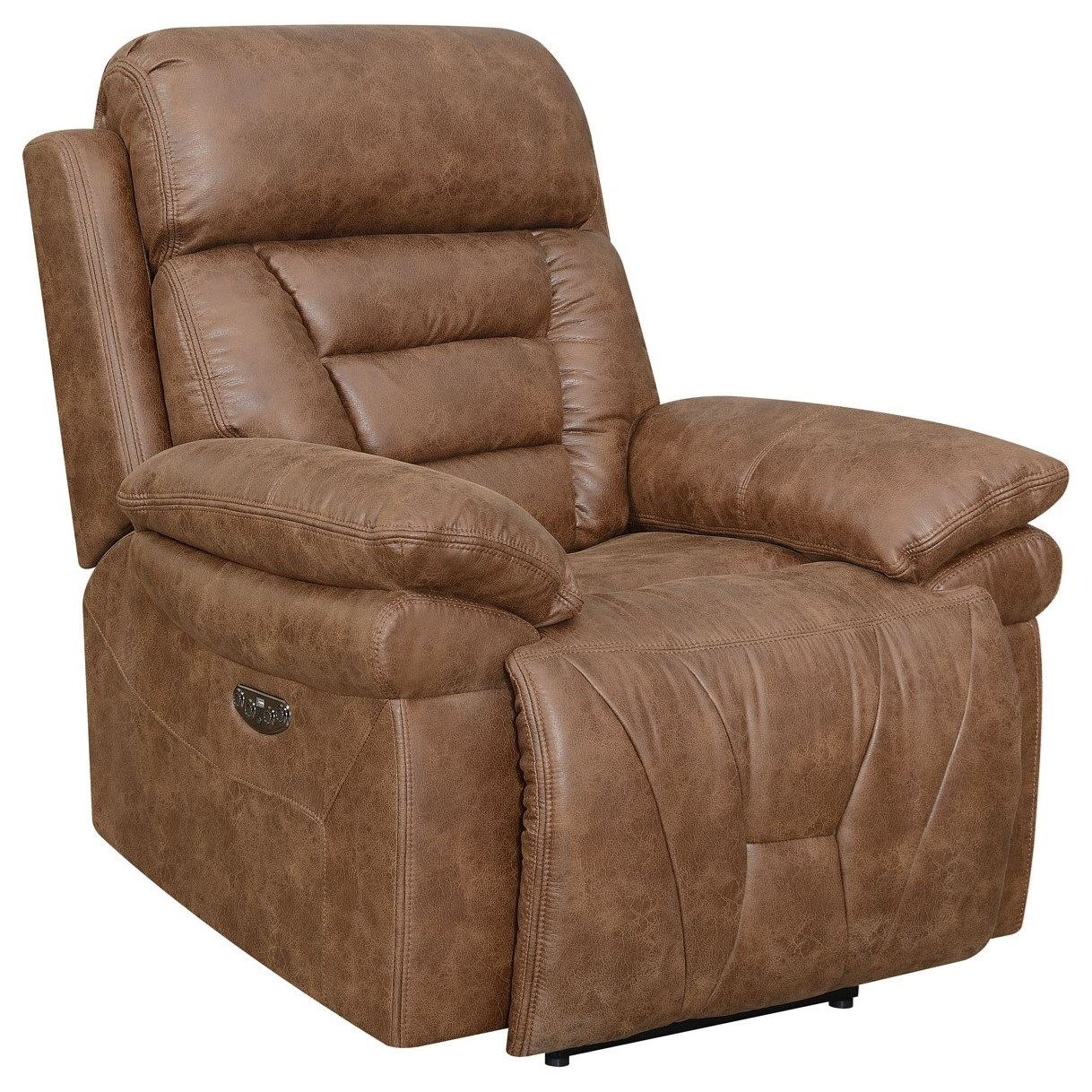 Brock Lay Flat Power Recliner by Steve Silver at Darvin Furniture