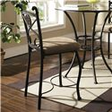 Steve Silver Brookfield 3 Piece Counter Table and Chair Set - Set Includes Two Counter Chairs