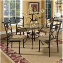 Vendor 3985 Brookfield 5 Piece Dining Set - Item Number: BK420B+GT+4xBK420S