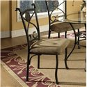 Morris Home Furnishings Brookfield 5 Piece Dining Set with Glass Top Table - Set Includes Four Side Chairs