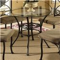 Morris Home Furnishings Brookfield 5 Piece Dining Set with Glass Top Table - Set Includes Round Table