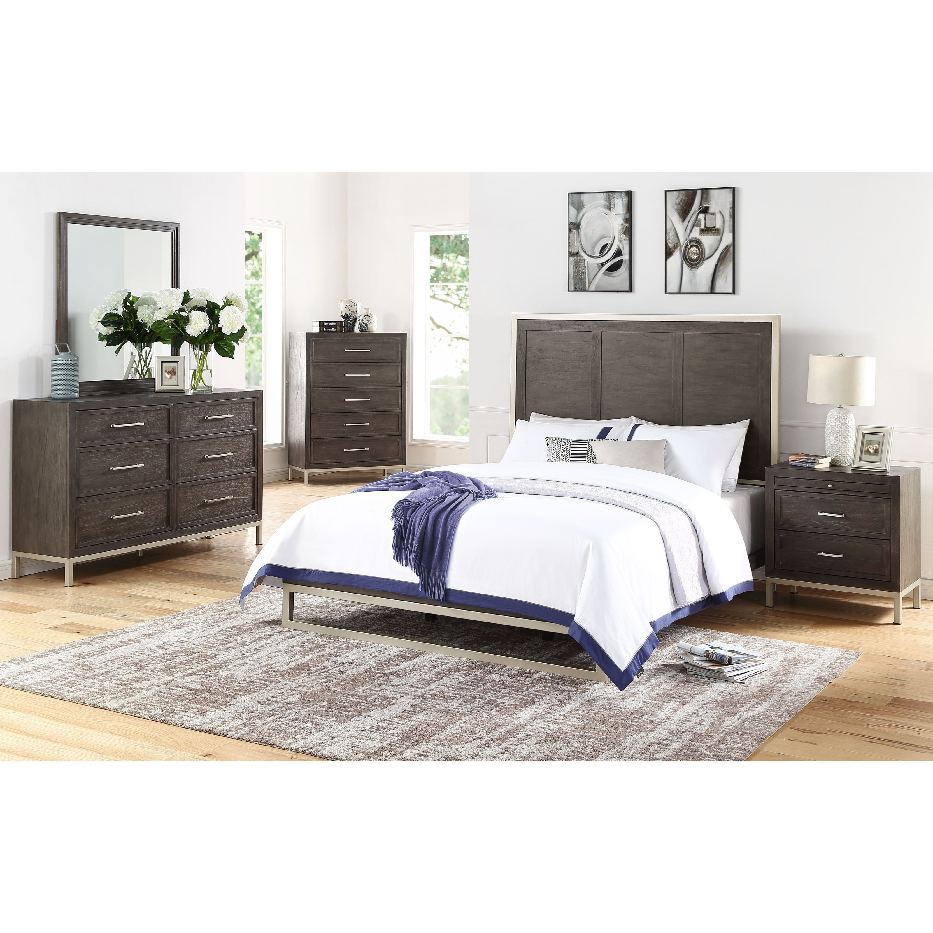 Broomfield Queen Bedroom Group by Steve Silver at Standard Furniture