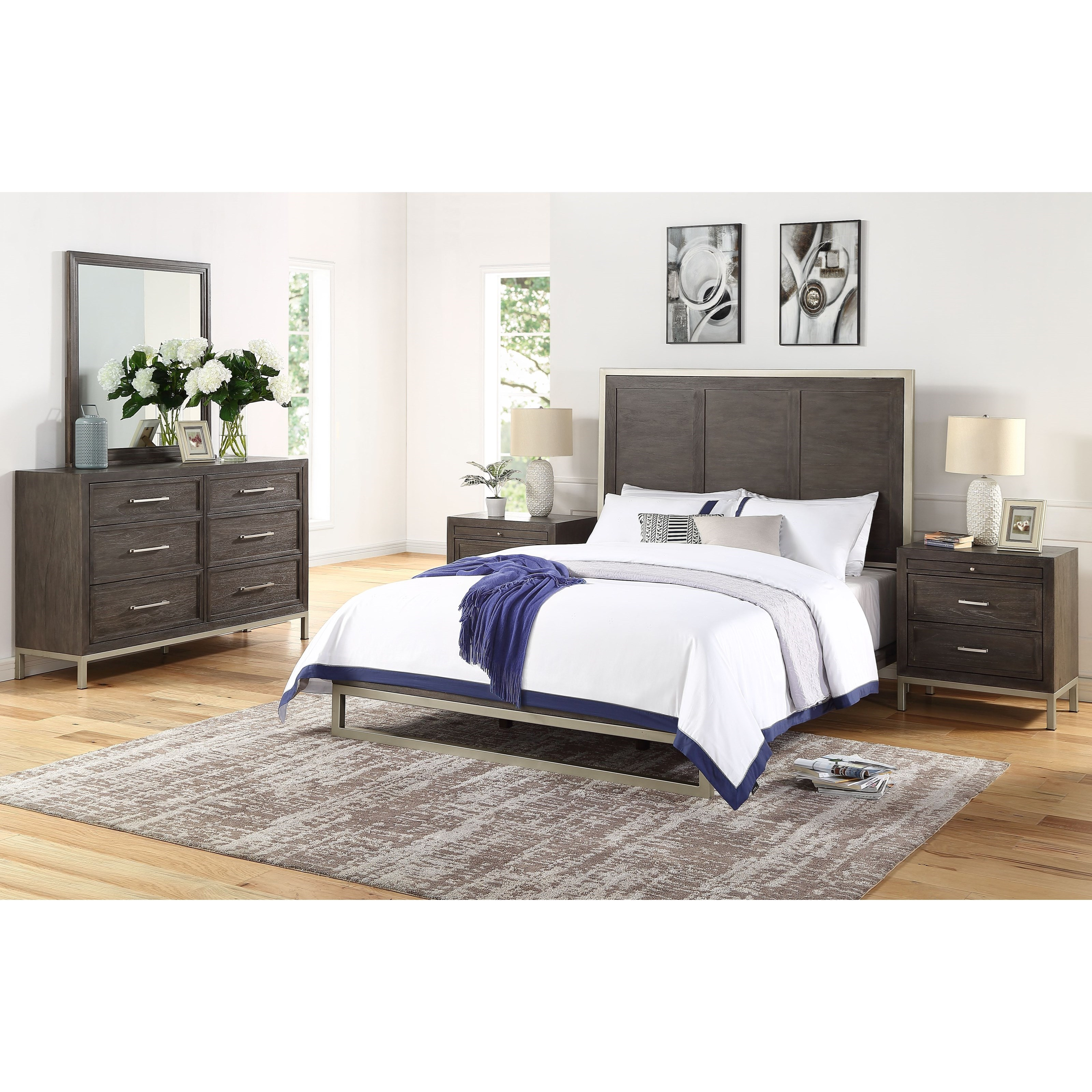 Broomfield King Bedroom Group by Steve Silver at Standard Furniture