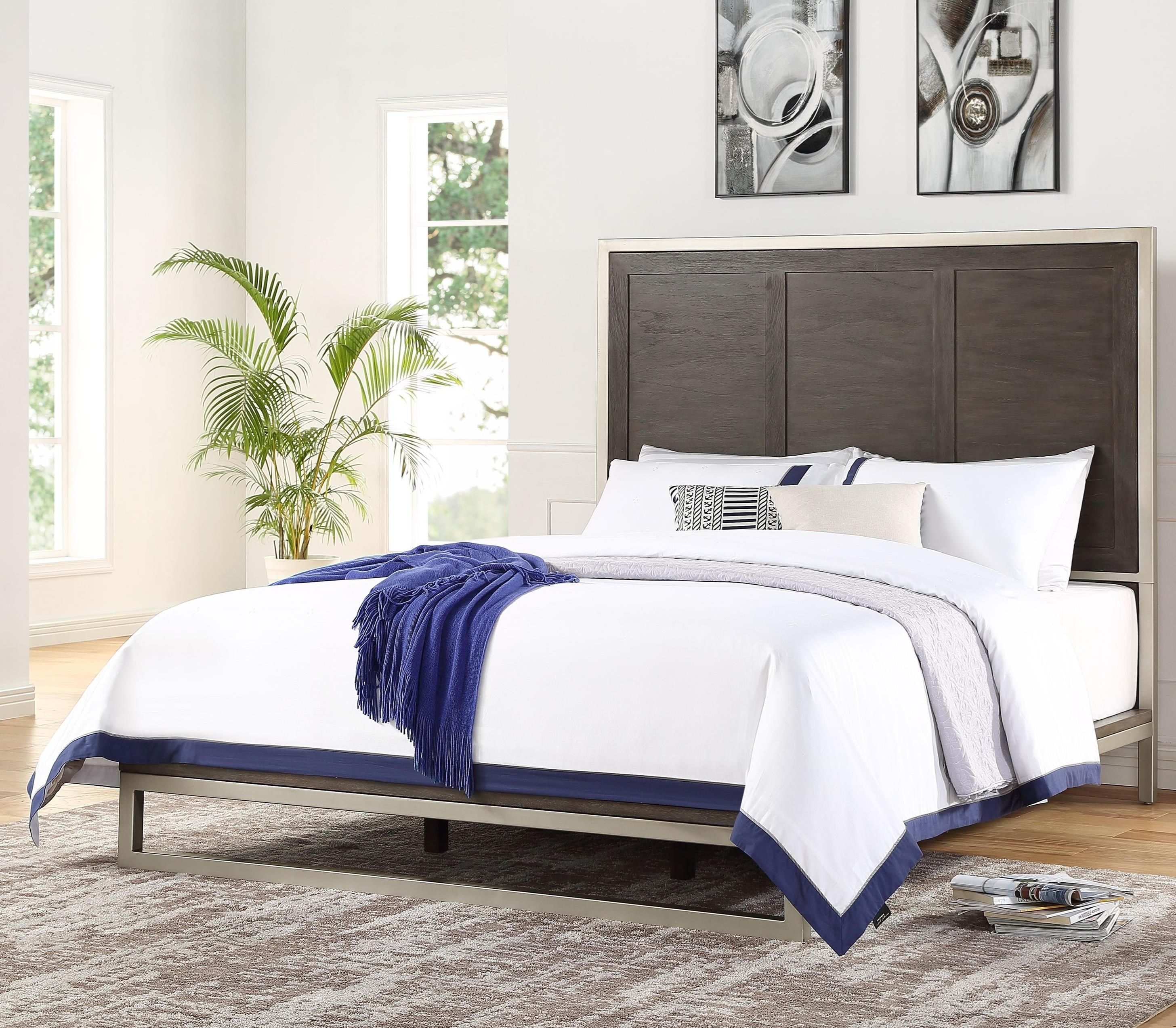 Broomfield King Bed by Steve Silver at Standard Furniture