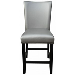 Upholstered Counter Chair with Nailhead