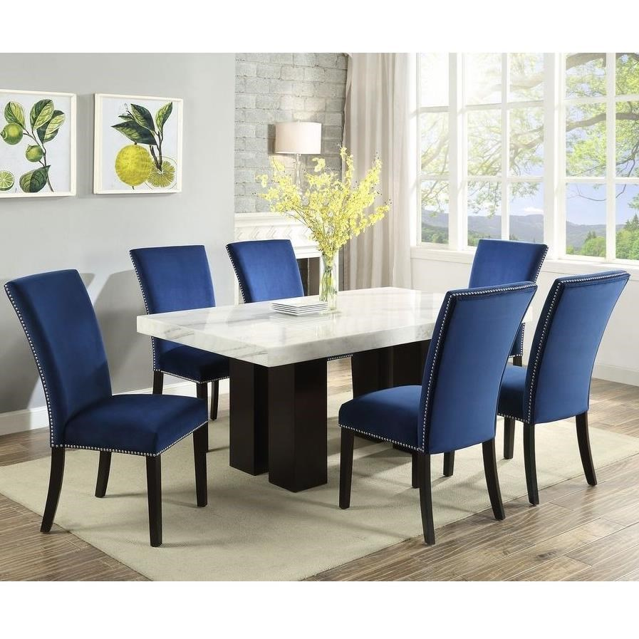 Camila 7 Piece Dining Set by Steve Silver at Standard Furniture