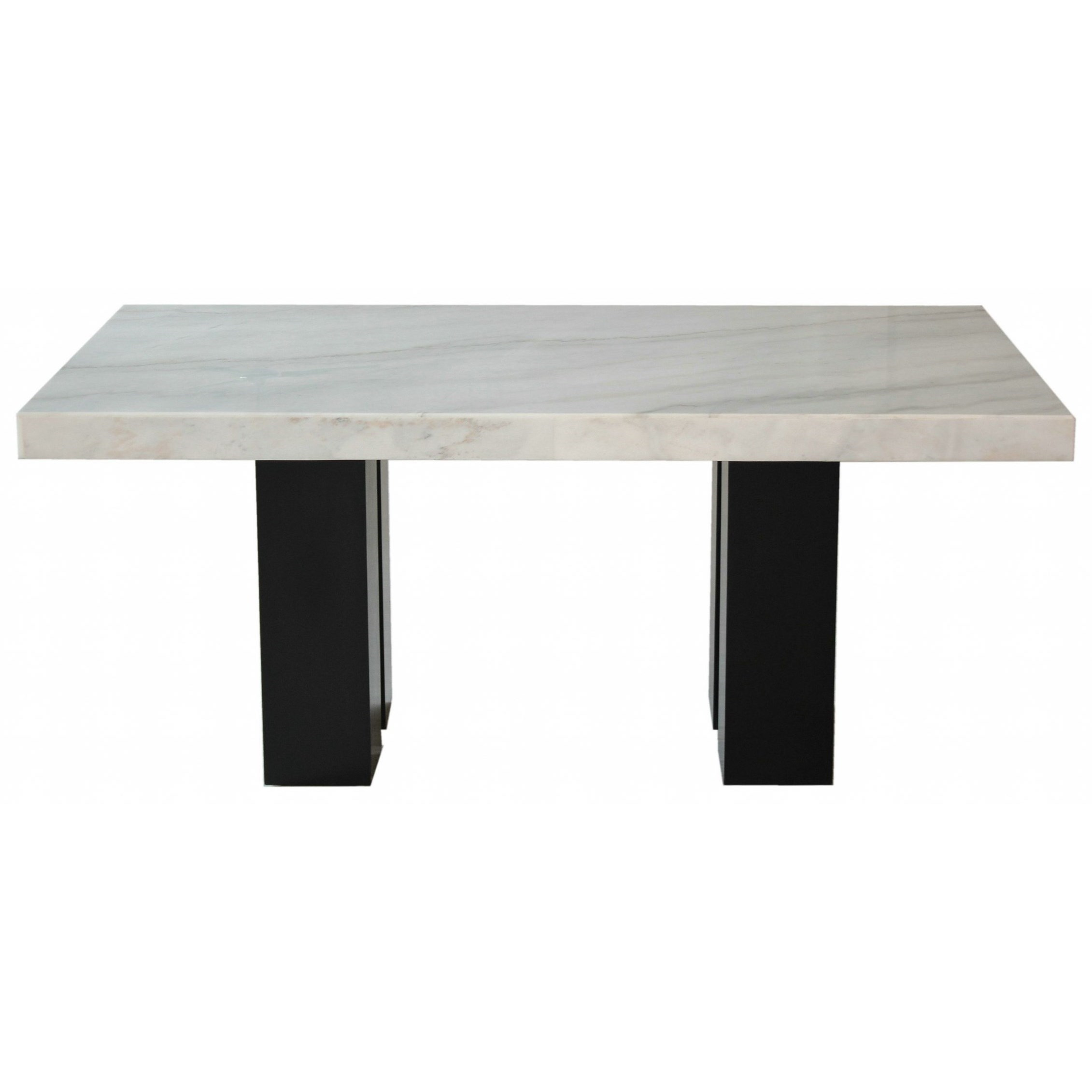 Steve Silver Camila Cm420wb Wt Rectangular White Marble Dining Table O Dunk O Bright Furniture Dining Tables