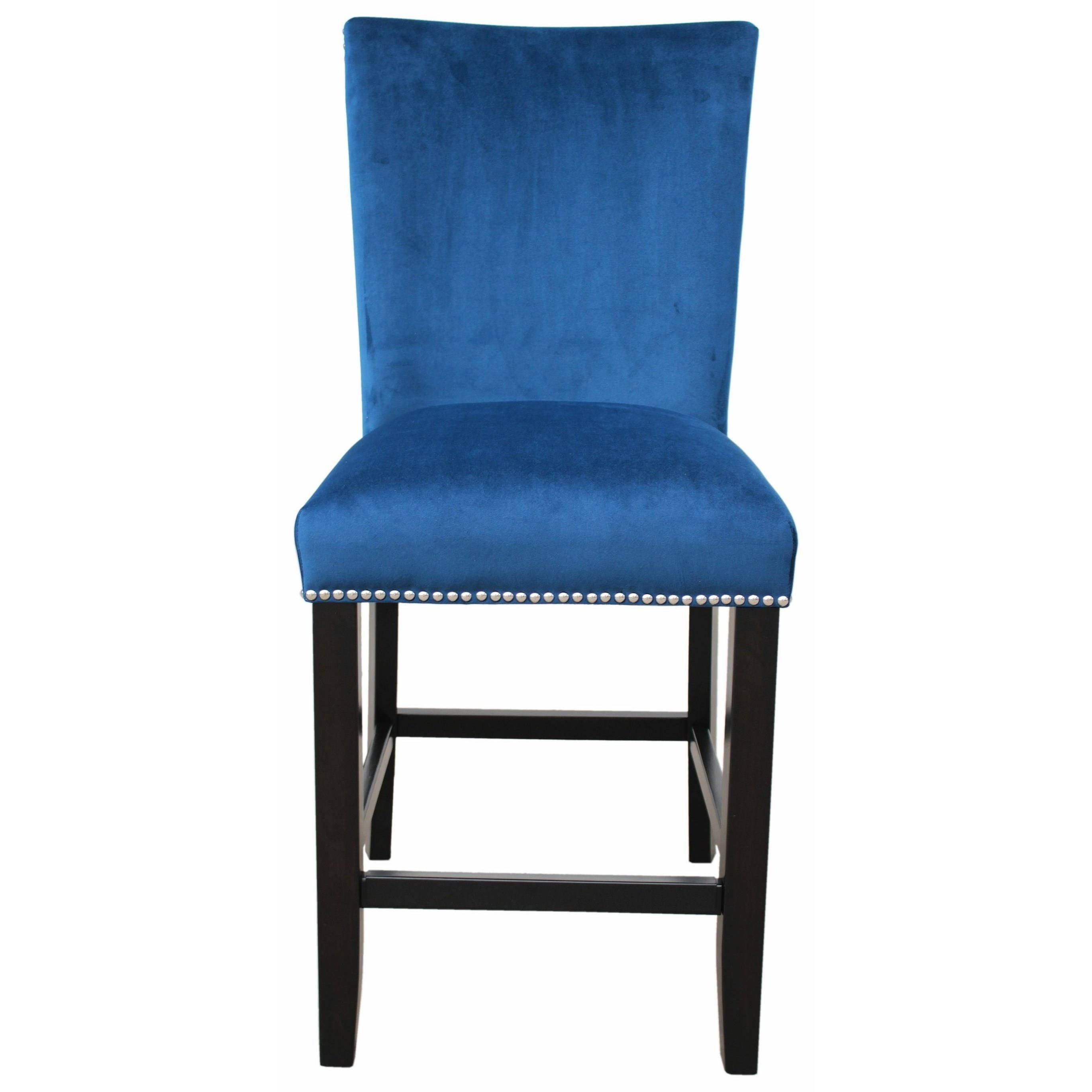 Camila Upholstered Counter Chair with Nailhead by Steve Silver at Walker's Furniture