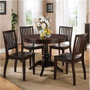 Morris Home Furnishings Candice 5 Pc. Pedestal Table with Chair Dining Set