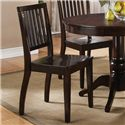 Steve Silver Candice 5 Piece Round Pedestal Table with Slat Back Side Chairs Dining Set - Set Includes Four Side Chairs