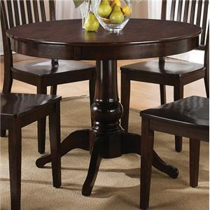Morris Home Furnishings Candice Round Pedestal Table