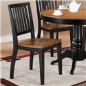 Steve Silver Candice Side Chair with Slat Back - Shown with Pedestal Table