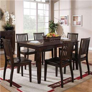Morris Home Furnishings Candice 7 Pc. Rectangular Table and Chair Dining Set